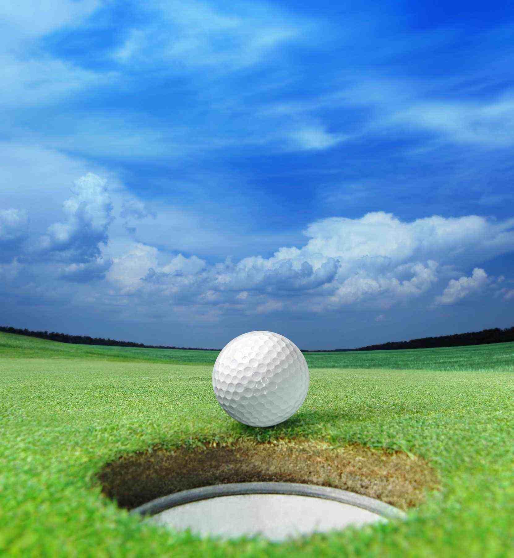 Golf ball on the edge